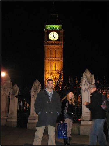 Marcelo Rondon em frente ao Big Ben