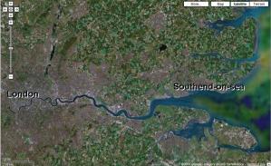 O Biaxo Tamisa, de Londres a Southend-on-sea
