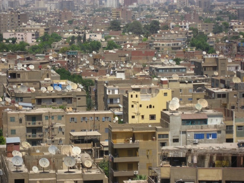 O Cairo, visto do 16o andar